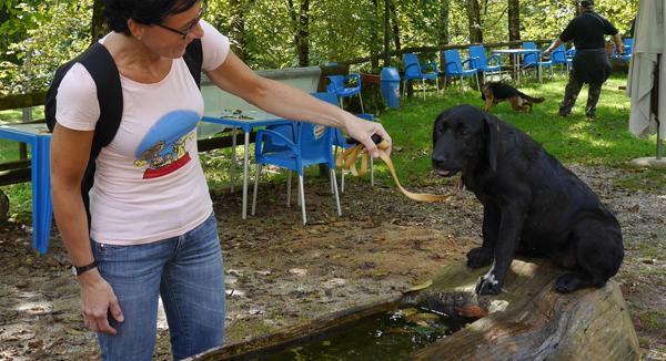 Stella fa esperienza in acqua
