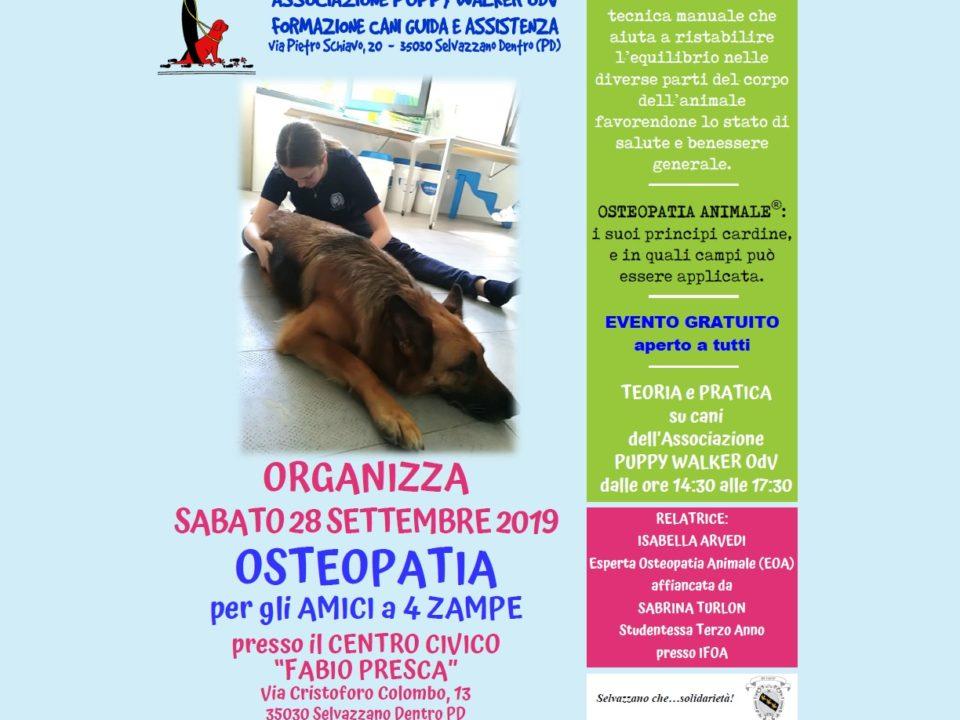 locandina dell'evento di osteopatia
